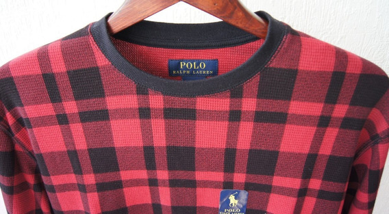 Polo Ralph Lauren Playera Polo Talla M Color Rojo A Cuadros