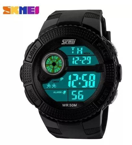 Relógio Preto Skmei 055 Mergulho Natação - Envio Imediato