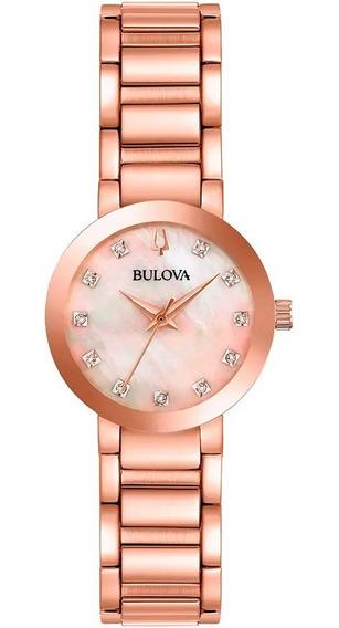 Relógio Bulova Feminino Original 97p132 Garantia E Nfe