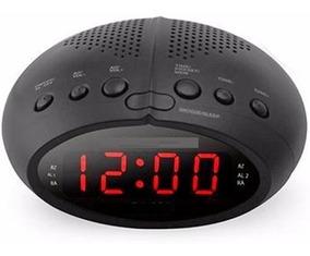 Rádio Relógio Digital Fm Alarme Temporizador Pronta Entrega