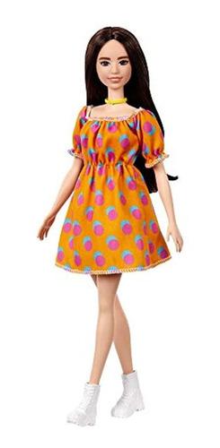 Imagen 1 de 6 de Muñecas Barbie Fashionistas Muñeca #160 Con Pelo Morena