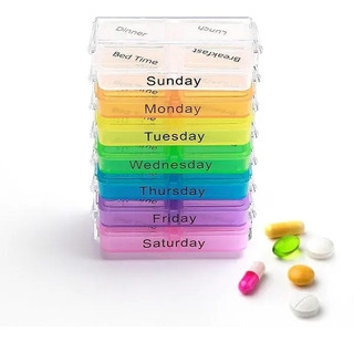 Organizador De Remedios Semanal Torre Caixinha Medicamentos