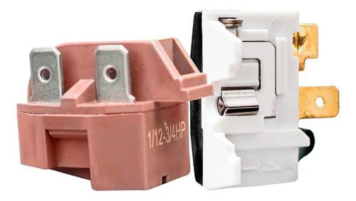Imagem 1 de 7 de Relé Ptc E Protetor Térmico Universal Geladeiras E Freezers