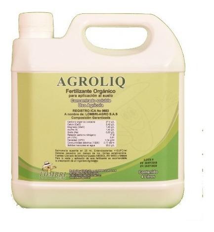 Imagen 1 de 1 de Agroliq Bio Fertilizante (galón X 4 Litros)