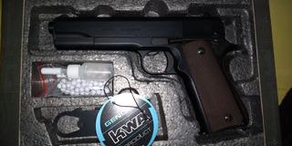 Secundaria Airsoft. Colt 1911 A1 Nueva. Marca Kwa