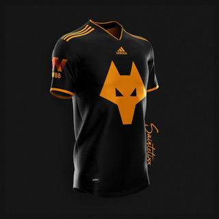 Camisa Wolverhampton Saintetix Design Iii - Pronta Entrega