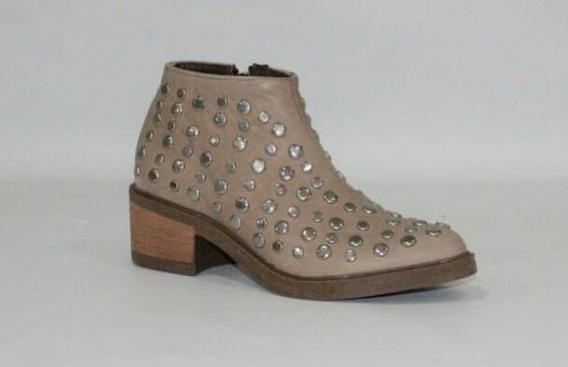 Botas Zapatos Botitas Texanas Charrito Tachas De Cuero Mujer