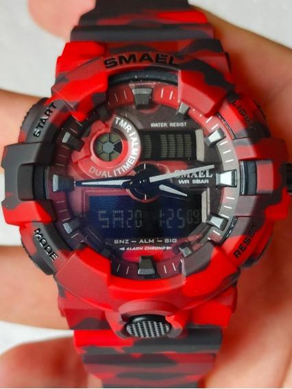 Relógio Esportivo Smael S Shock Camuflado