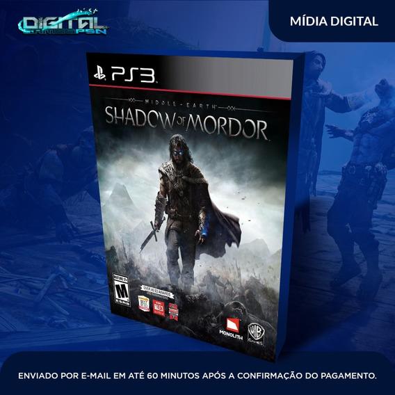 Terra Média Sombras De Mordor Ps3 Midia Digital Envio Já!