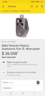 Parlante Audiosonic