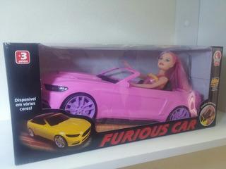 Carro Com Boneca Flash Girl Lua De Cristal /cabe Barbie