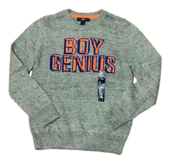 Suéter Para Niño Color Gris Marca Gap Original