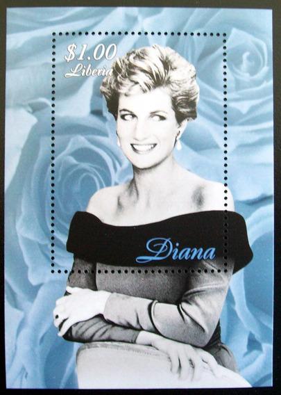 Liberia, Bloque Princesa Diana 1 Sello Mint L5632