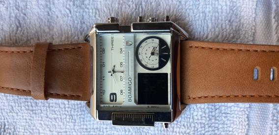 Relógio Masculino Boamigo Couro. Brasília-df