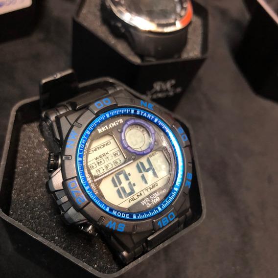 Relog`s. Prova Da Agua ,caixa Azul S-703