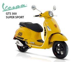 Vespa Gts 300 Super Sport Amarillo