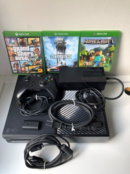 Xbox One Fat 1tb (controle P2 Sem Fio, Fonte, Hdmi, 3 Jogos)