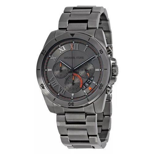 Relógio Michael Kors Mk8465 Cinza Chumbo Masculino 45mm