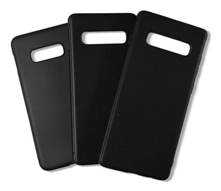Capinha Silicone Samsung Galaxy S10 S10e S10+ Preta