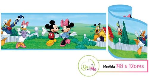 Vinilos Decorativo Infantil Cenefa Mickey Minnie 1.48x12cms