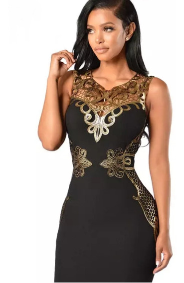 Vestido Feminino Midi Social Casual Moda Luxo Frete Gratis
