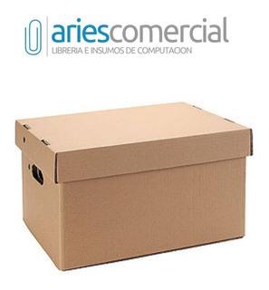 Caja Archivo Americana Carton Corrugado 42x32x25cm Pack X10