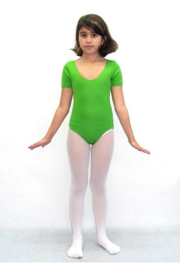 Collant De Ballet Infantil Verde Limão