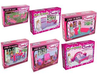 Set Y Juegos Para Muñecas Varios Modelos En Caja Fiorella