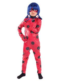 Disfraz Ladybug Deluxe Original Peluca Antifaz Envio Gratis