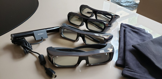 Kit 4 Óculos Sony 3d Tdg Br 100 / Br 250 + 3d Tmr-br 100