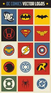 Plantilla Sublimación Vectores - Dc Comics Retro Logos