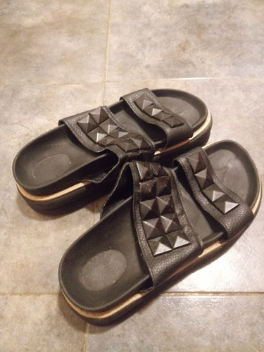 Sandalias Gomones Negras 39/40 Usadas