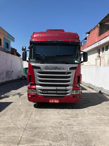 Scania R440 Highline Com Carreta Tanque 35.000 Lts