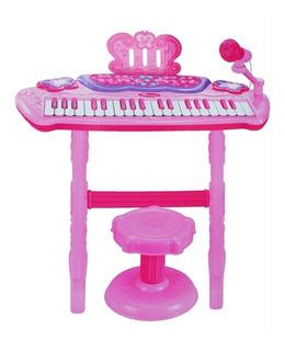Piano Organeta Electrónica Musical Micrófono Silla Ref. 107a