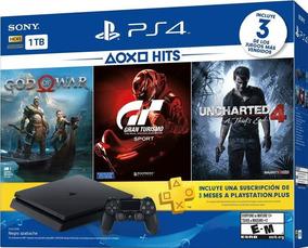 Ps4 Slim1tb Hits Bundle God Of War + Gt Sport + Uncharted4!!