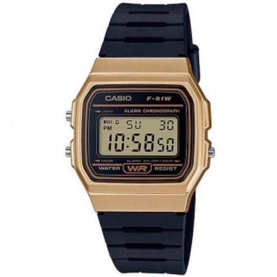 Relógio Casio Vintage Unissex F-91wm-9adf Com Nota Fiscal