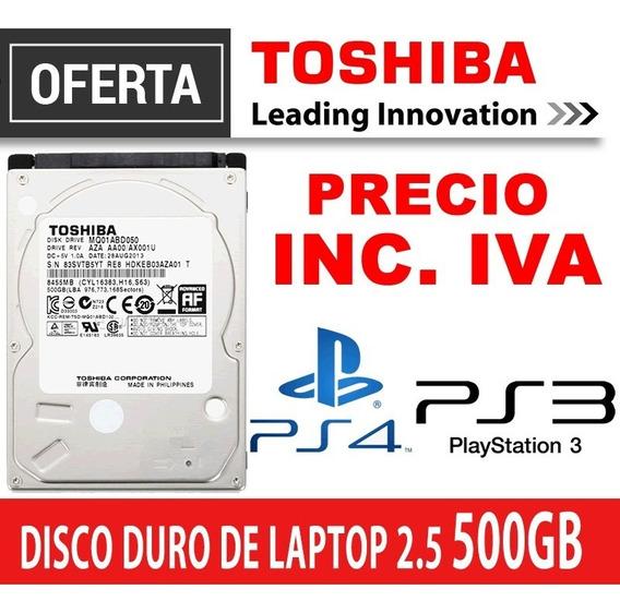 Disco Duro Toshiba 2.5 500gb Laptop, Ps3, Ps4 Precio Inc Iva