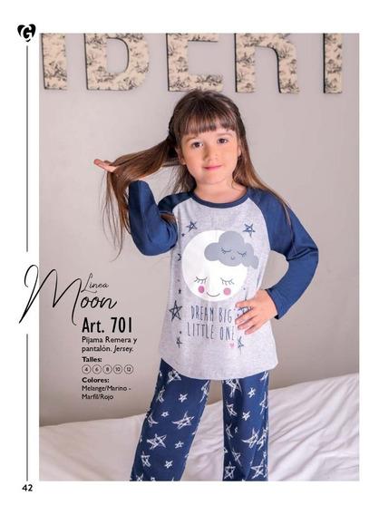 Pijama Niña Remera Pantalon Jersey Georgette 701 Wariel