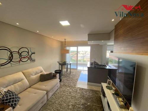 Apartamento Com 2 Dormitórios À Venda, 82 M² Por R$ 563.000,00 - Condomínio Sky Towers - Indaiatuba/sp - Ap2503