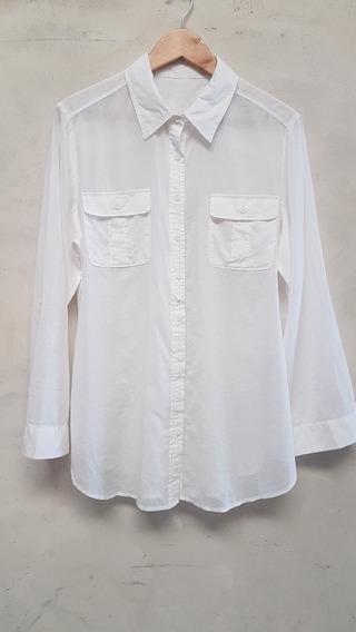 Camisa Blanca De Algodon