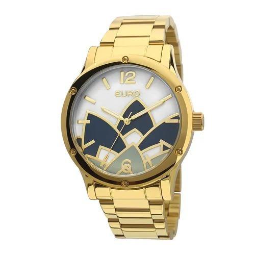 Relógio Euro Feminino Madrepérola Dourado - Eu2035ycx/4d