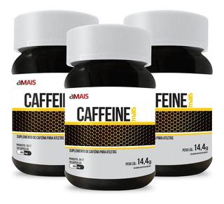 Cafeína Caffeine 30 Cápsulas De 480mg Kit Com 3