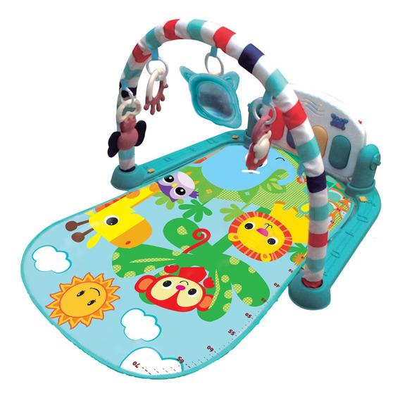 Tapete De Atividades Musical Piano Safari Maxi Baby - Azul