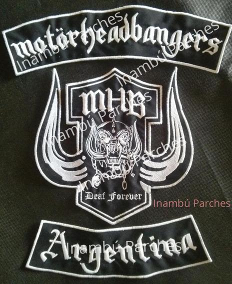 Parches Motorhead Bangers Bordados Rock Lemmy Motoclub