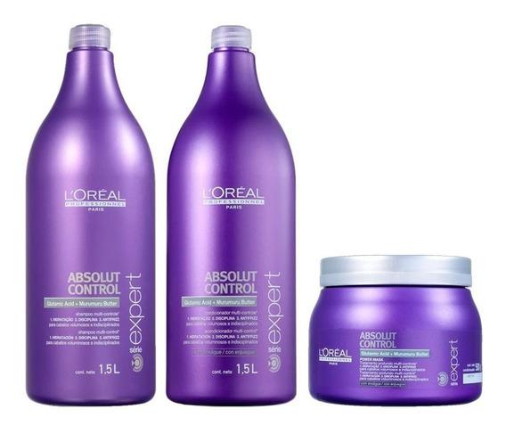 Shampoo, Condicionador E Máscara Absolut Control L