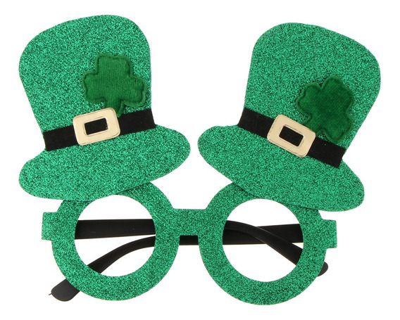 Brilho St Patricks Day Partido Óculos Óculos Engraçado Pr