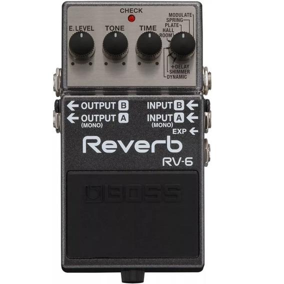 Pedal Boss Rv 6 Reverb Com Shimmer Rv6 - Original Com Nf