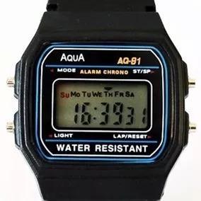 Relogio Aqua Aq-91 Retro Aprova Dagua Oferta C1