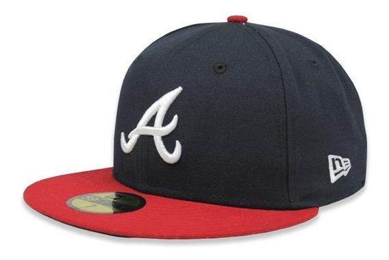 Gorra New Era 5950 Mlb Atlanta Braves Home Ac Azul/rojo