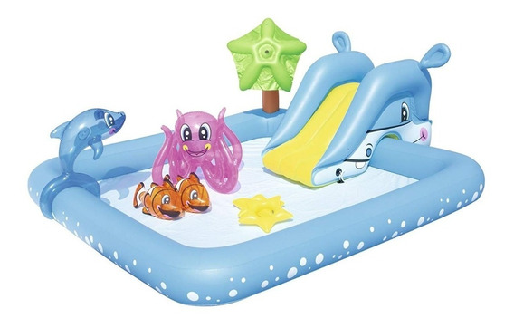 Piscina De Juegos Niños Acuario C/animales De Mar Bestway